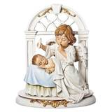 "8"" Angel with Sleeping Baby Figurine"