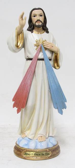 "8"" Divine Mercy Statue, Heaven's Majesty"