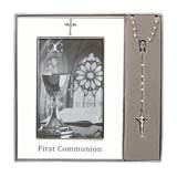"8"" First Communion Frame (holds 4x6 photo) and Rosary Gift Set"