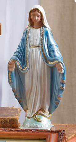"8"" Our Lady of Grace Statue, Pearlized"