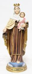 "8"" Our Lady of Mount Carmel Statue, Heavens Majesty"