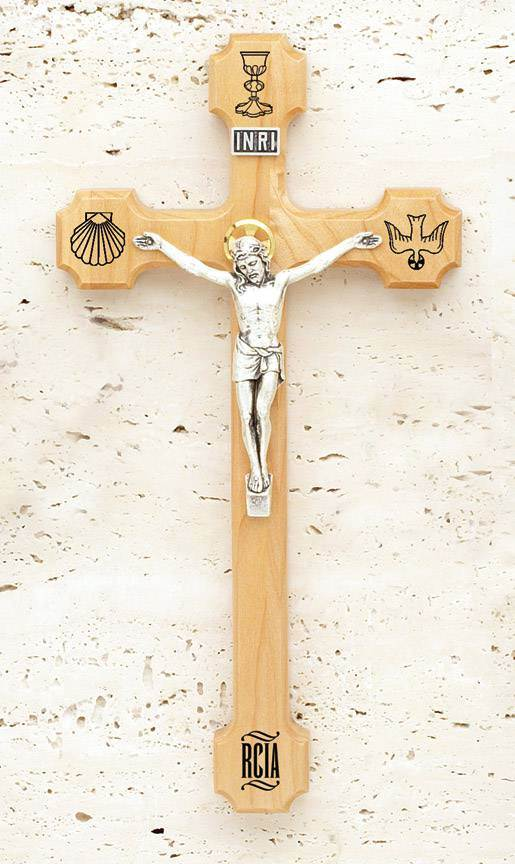 "8"" RCIA Maple Crucifix"