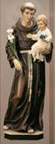 "8"" St. Anthony Hand Carved Statue from Italy"