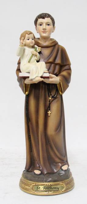 "8"" St. Anthony Statue, Heavens Majesty"