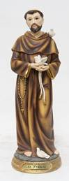 "8"" St. Francis of Assisi Statue, Heaven's Majesty"