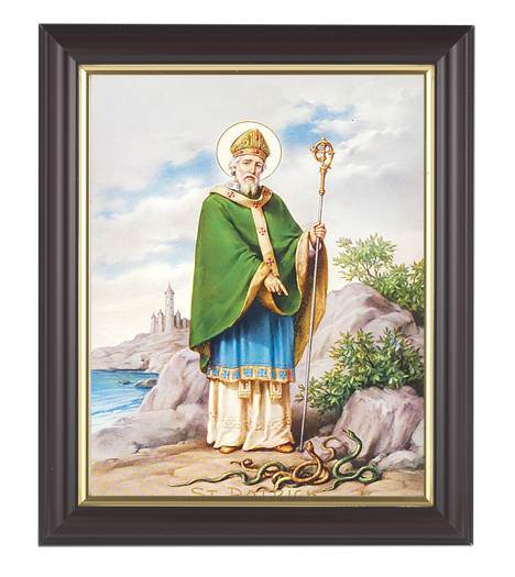 "St. Patrick Framed Print, 8""x10"" Walnut Wood Frame"