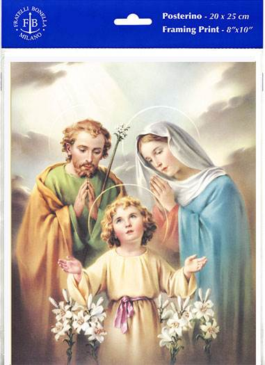 "8"" x 10"" Holy Family Paper Print (Print Only)"
