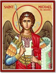 "St. Michael 8"" x 10"" Icon Plaque"