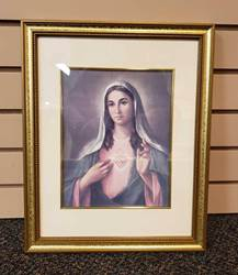 "8""x10"" Immaculate Heart of Mary Framed Print"