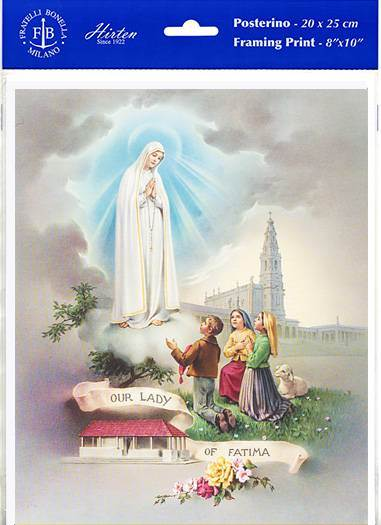 "Our Lady of Fatima Print, 8""x10"""