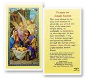 Christmas Novena Prayer to Obtain Favors Laminated prayer card