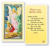 Guardian Angel Laminated Holy Card holy card, prayer card, guardian angel, angel