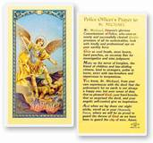 POLICEMANS PRAYER - SAINT MICHAEL HOLY CARD