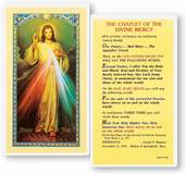 Divine Mercy Laminated Holy Card