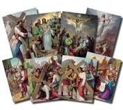 The Stations of the Cross 8x10 Poster Set  Vincentinis immortal works of art vividly depict Christs Passion. Lithography in 7 colors in 14 pictures to a set