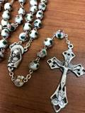 8mm White Cloisonne Rosary from Italy