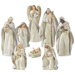 8pc Resin Nativity Figure Set