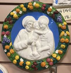 "9.5"" Round Holy Family Della Robbia Wall Hanging *WHILE SUPPLIES LAST*"
