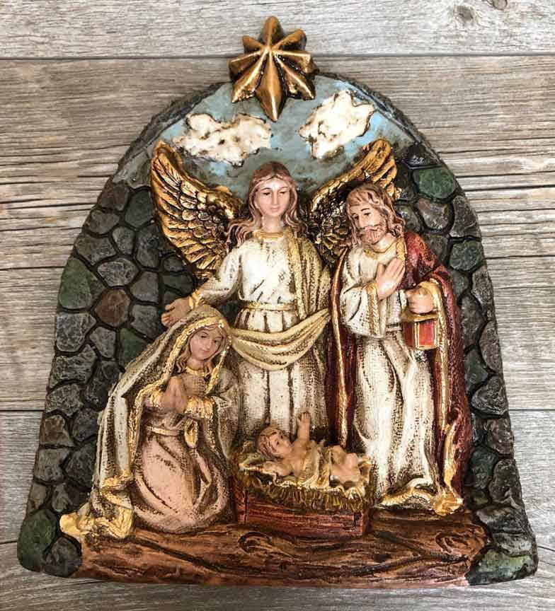 "9"" Arched Nativity Wall Plaque"