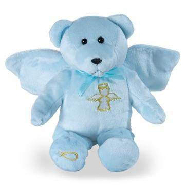 "9"" Blue Guardian Angel Holy Bear"