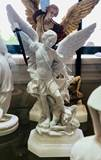 "9"" St. Michael Alabaster Statue from Italy"