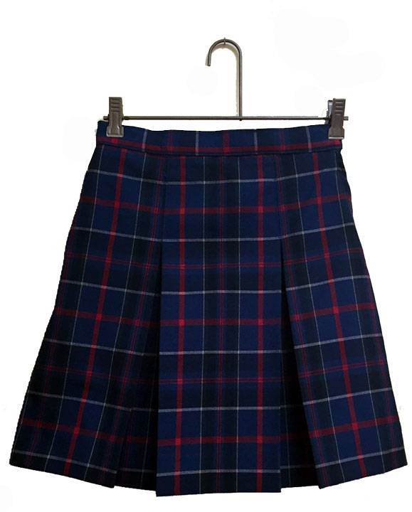 #93 Box Pleat Uniform Skirt wilson plaid, dennis wilson plaid, dennis wilson, wilson