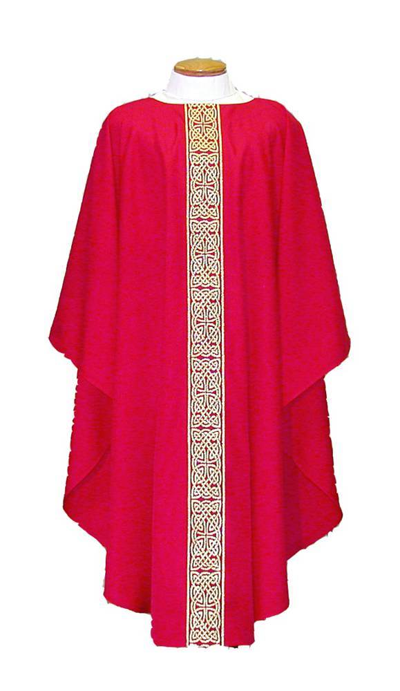 955R Red Chasuble