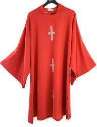 99 Red Dalmatic - 3 Crosses by Sorgente