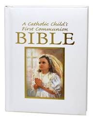A CATHOLIC CHILDS FIRST COMMUNION BIBLE-BLESSINGS-GIRL