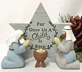 A Child is Born Holy Family Figure