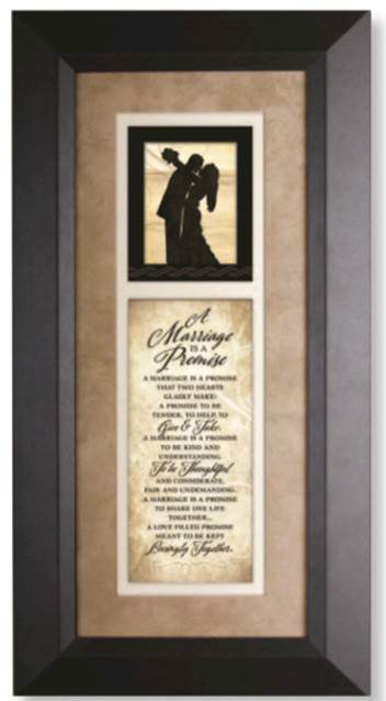 A Marriage is a Promise Silhouette Plaque