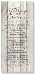 A Marriage is a Promise Wall Plaque