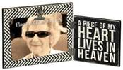 A Piece of My Heart Lives in Heaven Frame  cmas15b, cmas15h, frame, memorial frame, folding frame, wood frame, picture frame, message frame, desk frame, 25507