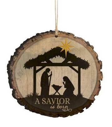 A Savior is Born Ornament ornament, chirstmas ornament, tree decor, holiday decor, tree ornament, nativity, holy family, ORN0030