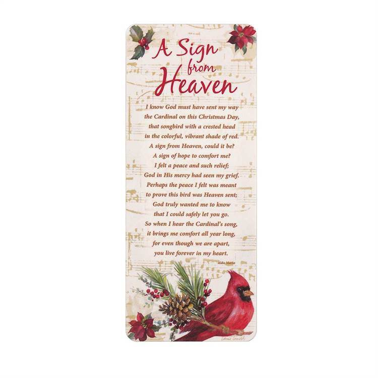 A Sign from Heaven Book Card