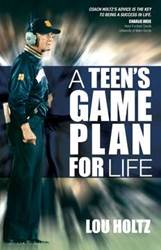 A Teens Game Plan For Life book, sports book, fathers day gift, dad gift, boy gift, sports gift, inspirational book, Lou Holtz, teen book, paper back,