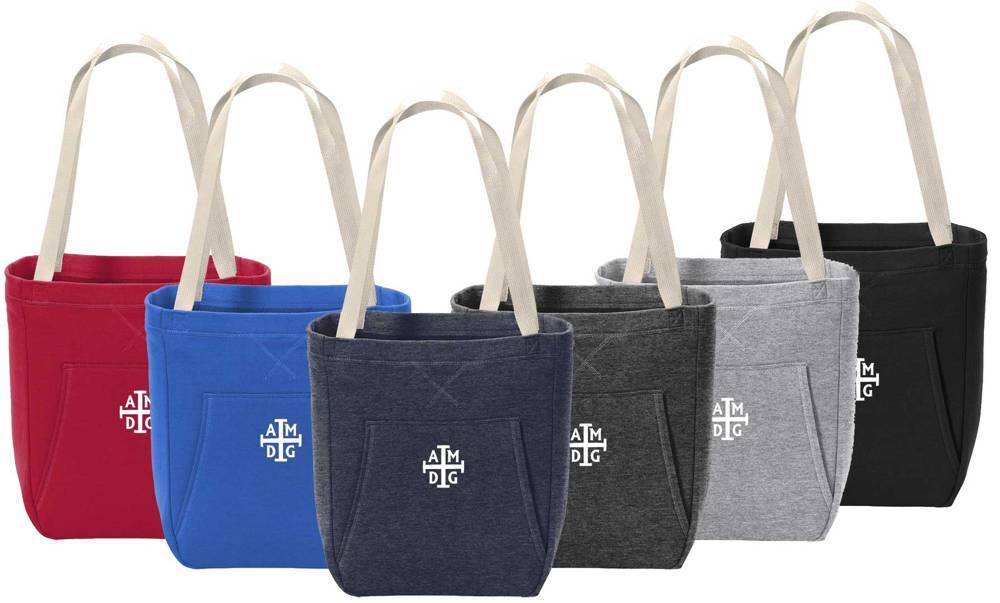 'AMDG' Fleece Tote Bag