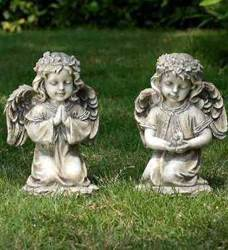 Assorted Kneeling Angel Statues