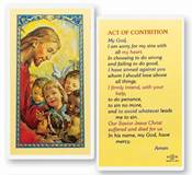 Act of Contrition  Clear, laminated Italian holy cards with Gold Accents. Features World Famous Fratelli-Bonella Artwork. 2.5 x 4.5