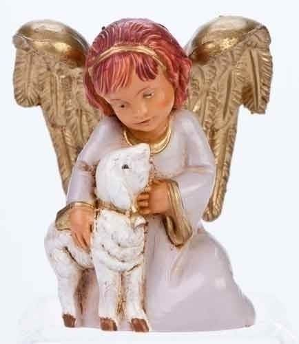 Adina, Angel Holding Lamb Figurine