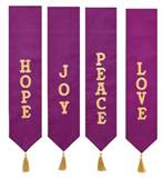 Advent Wreath Banners, Set of 4