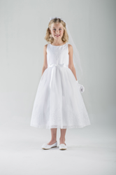 Alena First Communion Dress first communion dress, girls dress, white dress, special occasion dress, flower girl dress, cap sleeve,C5-355