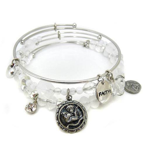 Angels 3pc Bangle Bracelet Set