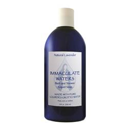 All Natural Lavender Bath and Shower Liquid Soap, Made with Lourdes Water