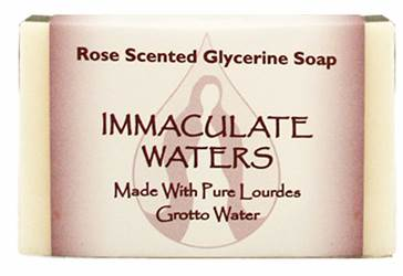 All Natural Rose Scented Soap, Made with Lourdes Water