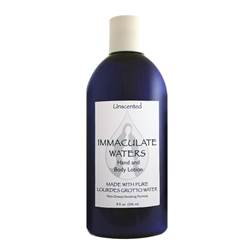 All Natural Unscented Hand and Body Lotion, Made with Lourdes Water