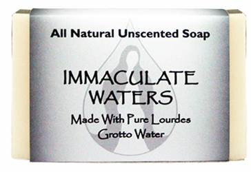 All Natural Unscented Soap, Made with Lourdes Water