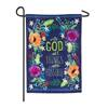 All Things Are Possible Garden Burlap Flag