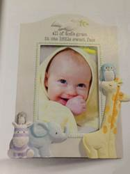 All of Gods Grace Baby Frame frame, baby frame, shower gift, new baby gift, picture frame gift, baptism gift, christening gift, baby boy theme, baby gift, animals, 470952