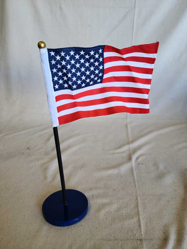 American Flag On Stand 12/pkg | CATHOLIC CLOSEOUT